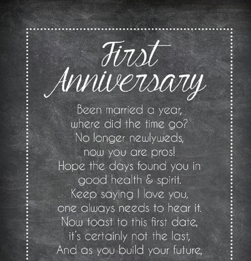 First anniversary poems for husband quotes and messages
