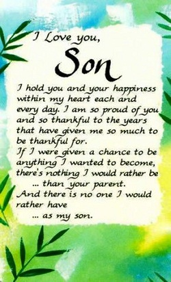 I Love You Quotes For Son Quotes And Messages